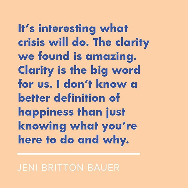 "IGC 2018 speaker Jeni Britton Bauer of @jenisicecreams on facing crisis as a company and coming out on top. Here's the full quote (from her interview at TEDxColumbus, about Jeni's 2015 listeria outbreak): ""It's interesting what crisis will do. We've been able to reimagine our company. We now feel like a totally different organization and I feel like a totally different person. Now that we've been through this as a team, we just have this enormous sense of gratitude. The clarity that we found is amazing. Clarity is really the big word for us. I don't know a better definition of happiness than just knowing what you're here to do and why.""🍦#entrepreneurship #goodbadandugly #clarity ✨"