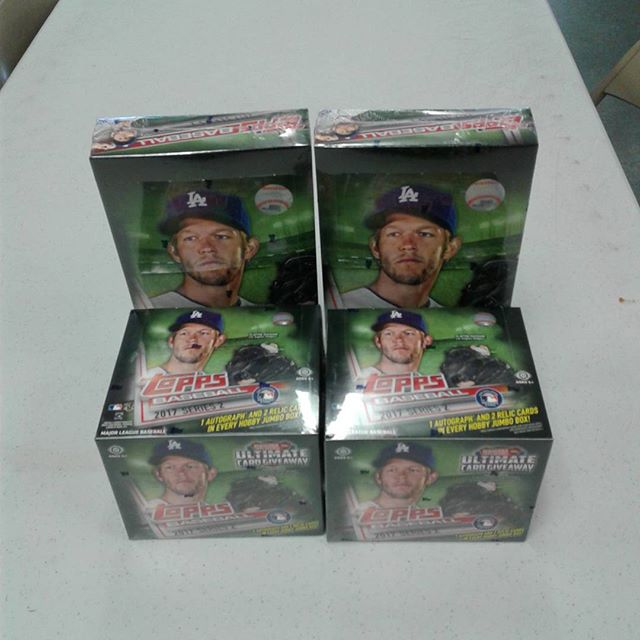 Topps 2017 Series 2 Baseball is in stock now! Stop in and get yours while supplies last! We have a limited quantity, so get yours today! #Topps #Baseball #Series2 #HobbyBox #JumboBox