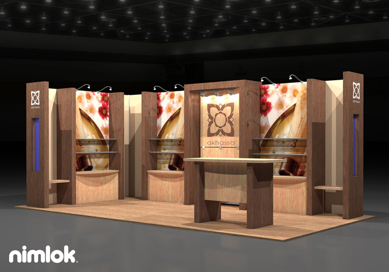 Trade Show Display NYC - 10x20 - Akhassa