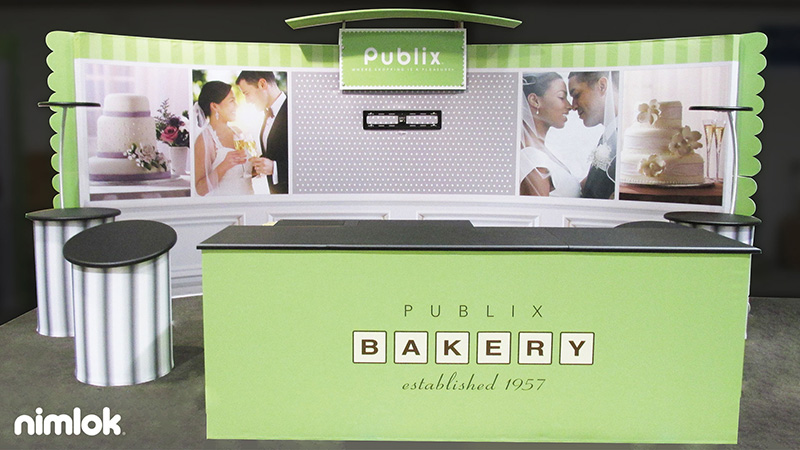Nimlok NYC 10x20 trade show design for Publix