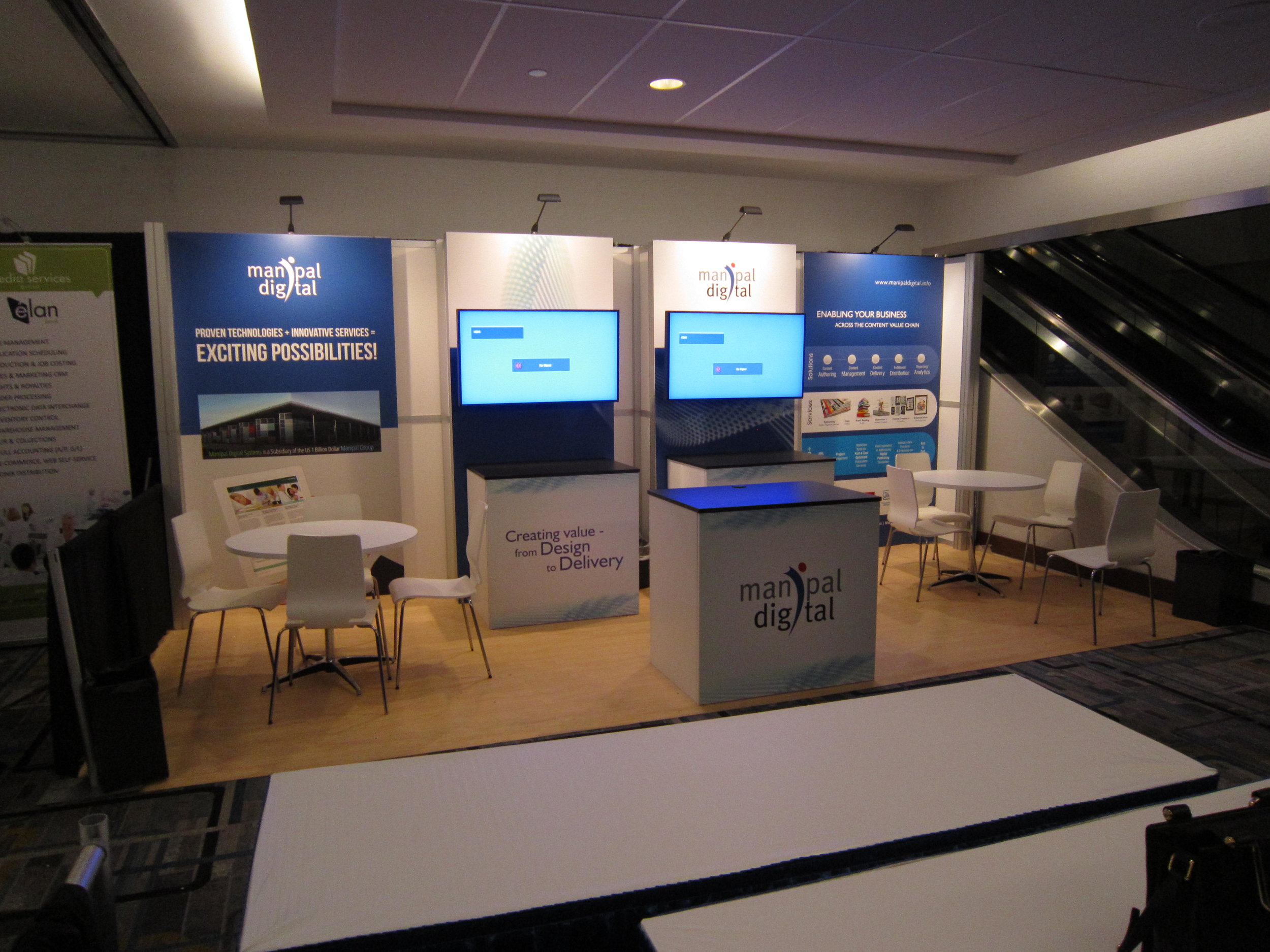 Nimlok NYC Trade Show Rental for Digital Book World 10x20