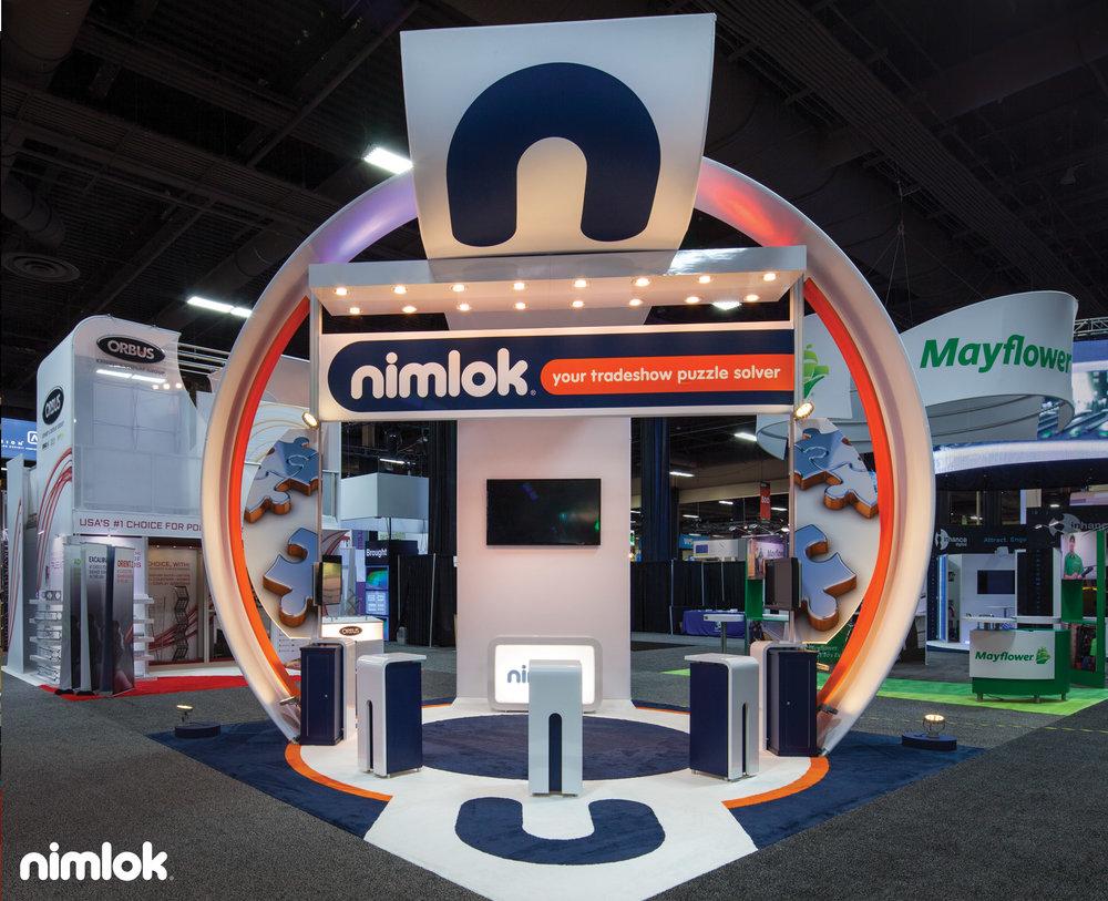 Nimlok NYC Trade Show Exhibit 20x20