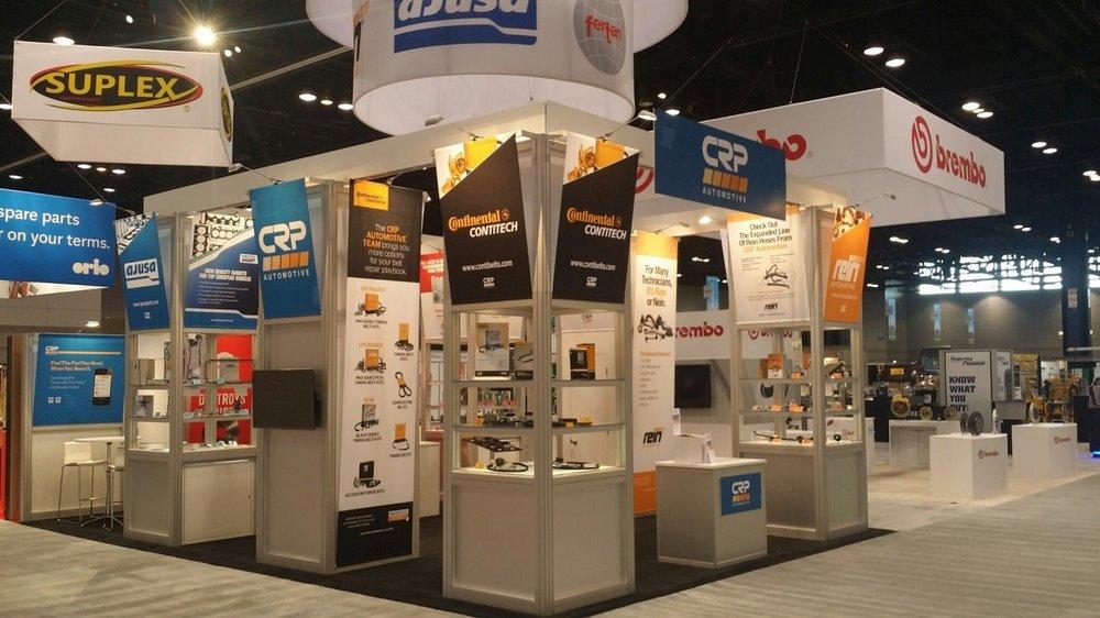 CRP Automotive 20x30 Trade Show Design by Nimlok NYC