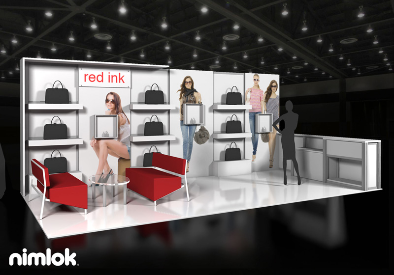 New York City Trade Show Display Advertising 10x20 Red Ink