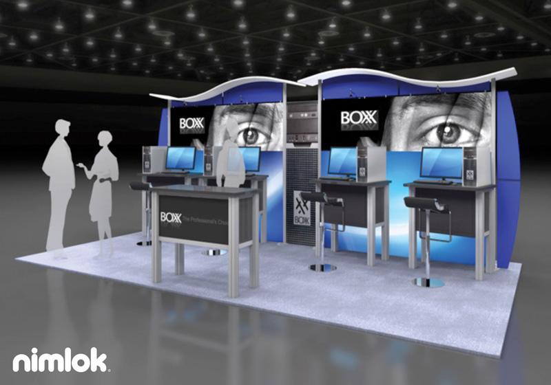 Boxx 10x20 Trade Show Design by Nimlok NYC
