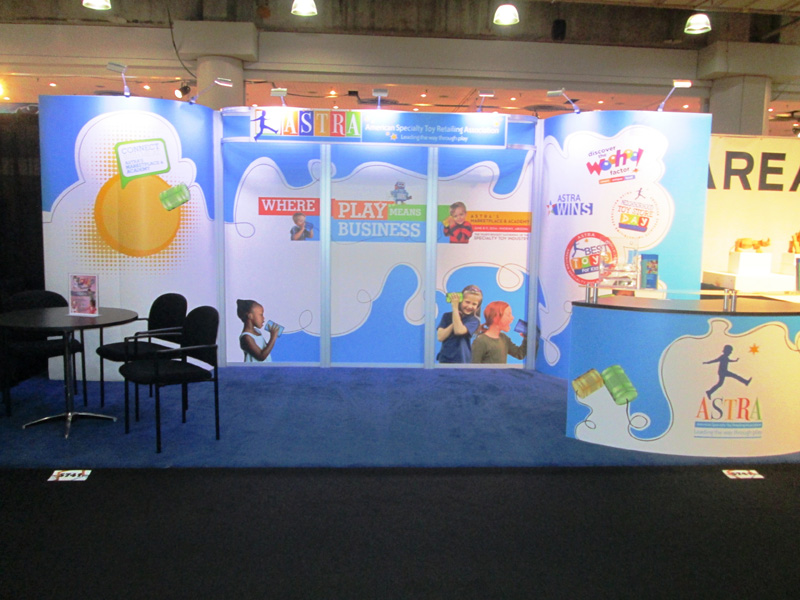 Astra 10x20 trade show exhibit by Nimlok NYC