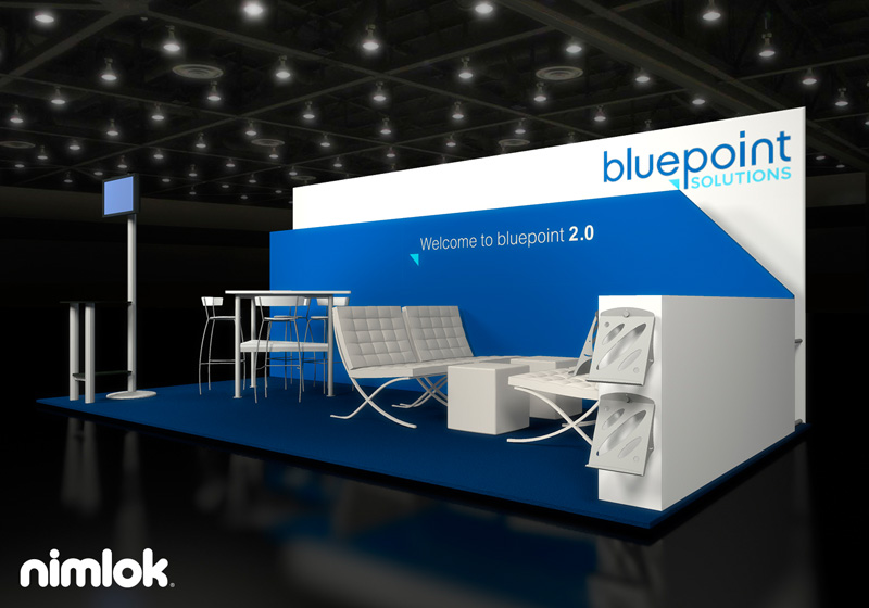 Bluepoint Solutions 10x20 Trade Show Display by Nimlok NYC
