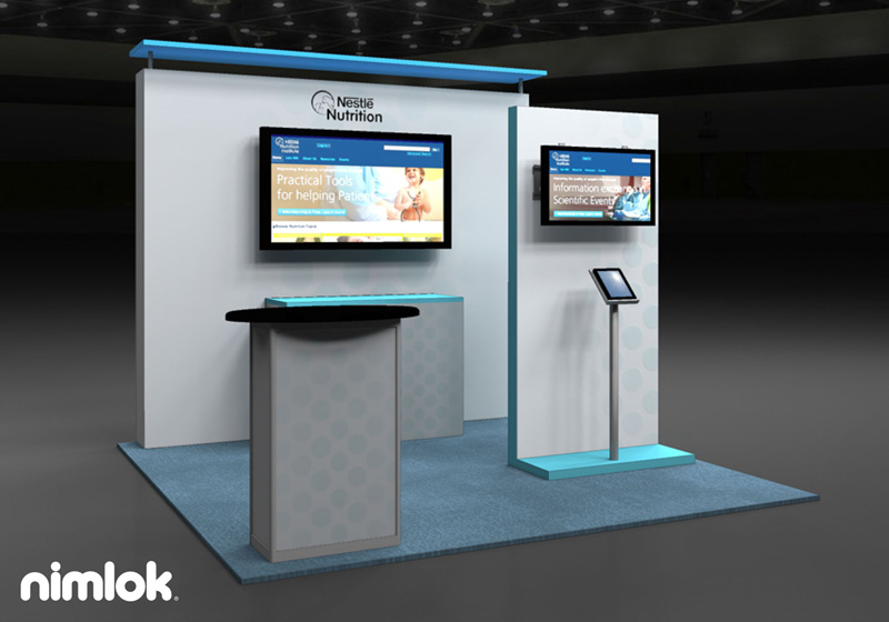 Nestle Nutrition 10x10 Trade Show Booth by Nimlok New York City