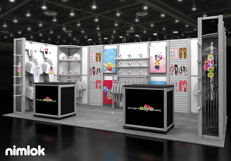 Jerry Leigh Trade Show Booth 10x20 by Nimlok NYC