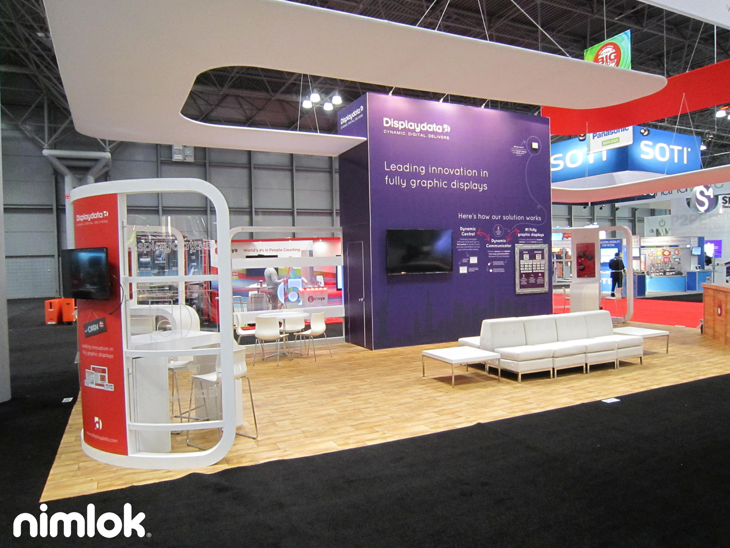 DisplayData Design Solution - Trade show booth with furniture