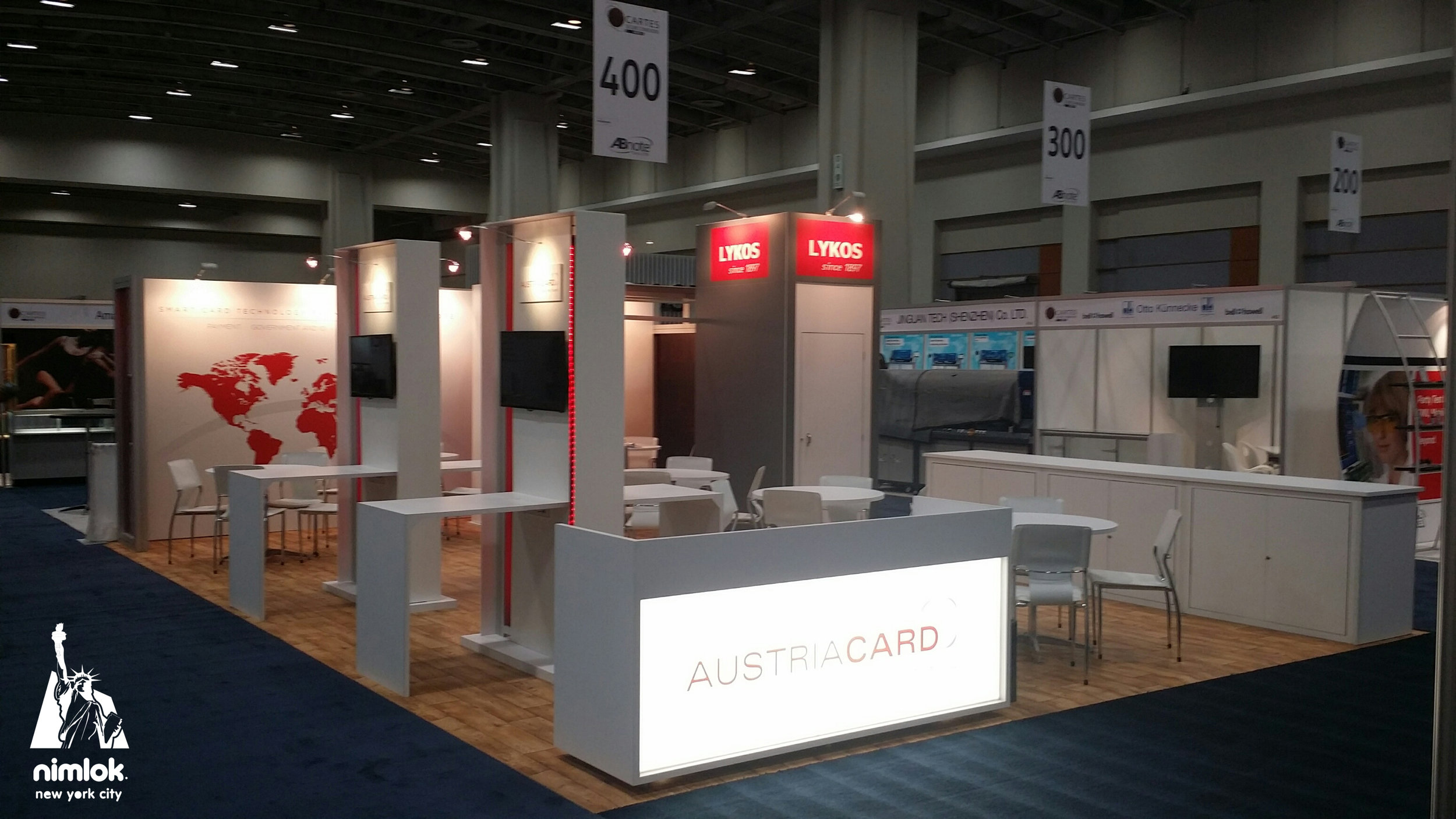 Cartes America Trade Show Display by Nimlok NYC