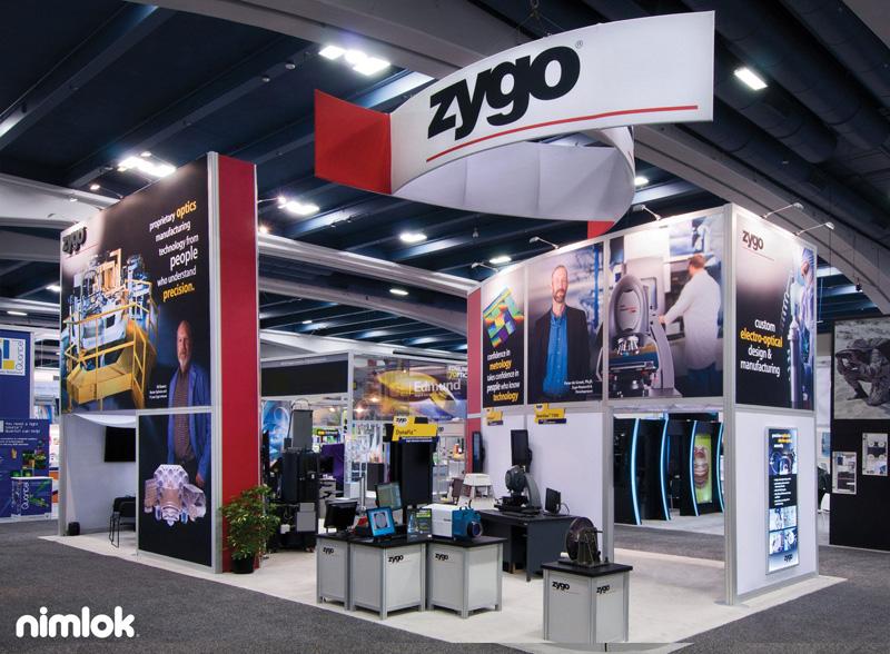 Zygo Large Trade Show Booth by Nimlok NYC