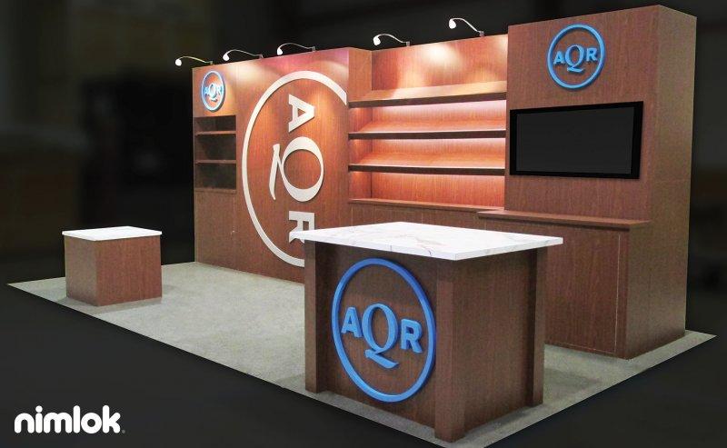 AQR Trade Show Exhibit 10x10 by Nimlok NYC