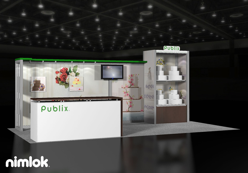 Publix Trade Show Display 10x20 by Nimlok NYC