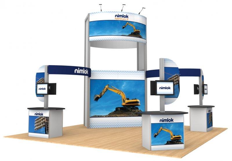Nimlok NYC 20x20 or larger Trade Show Display