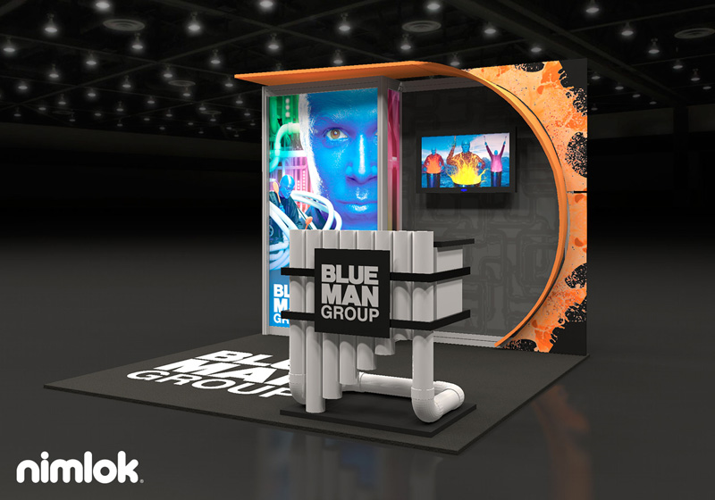 Blue Man Group Trade Show Display by Nimlok NYC