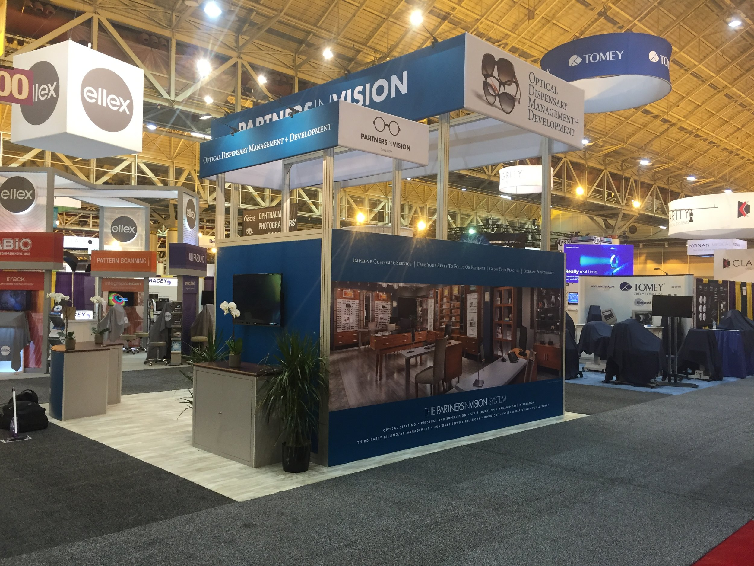 Partners in Vision Trade Show Display