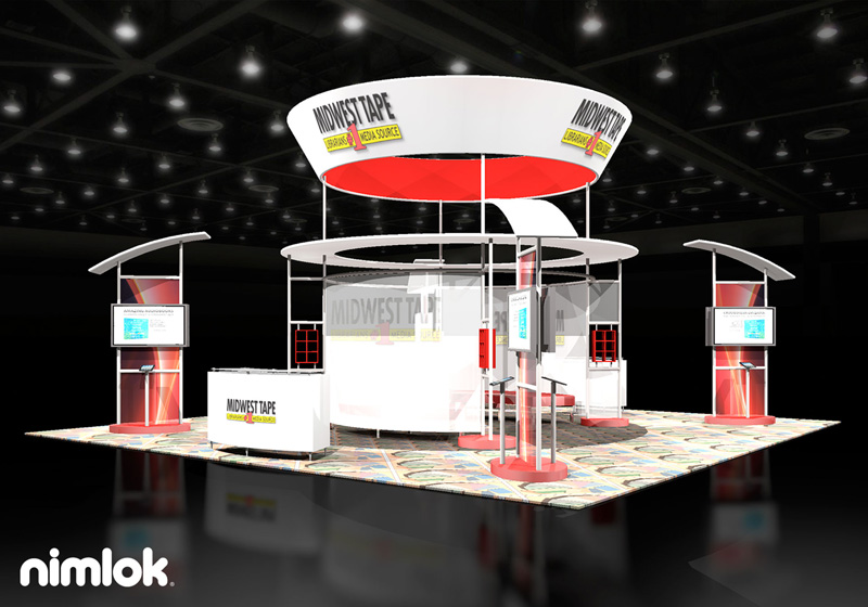 Midwest Tape Extra Large Trade Show Display by Nimlok NYC