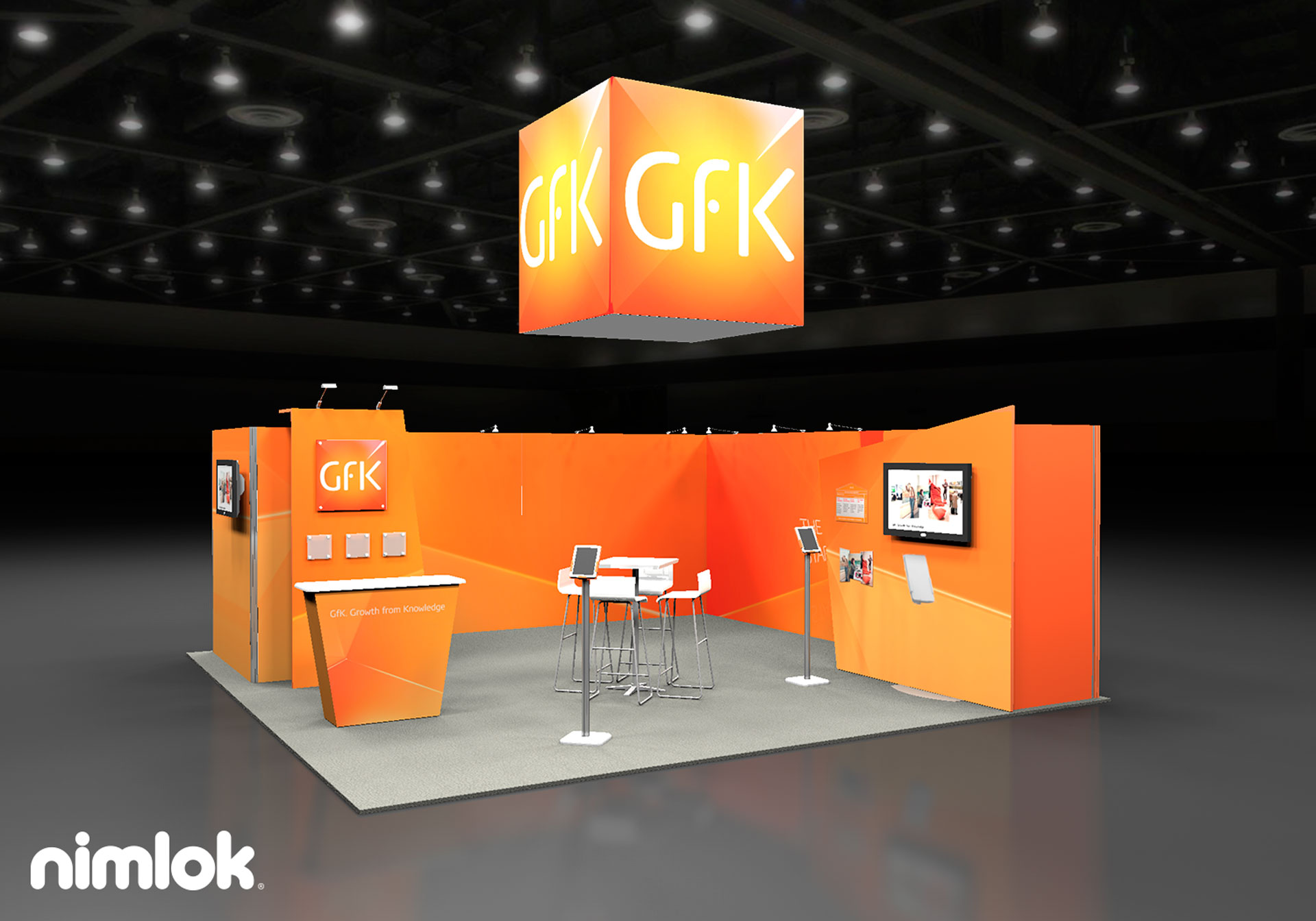 GFK 20x20 Trade Show Booth