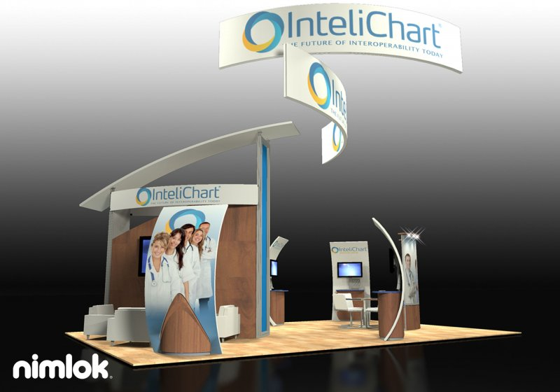 Personalize your Brand at Trade Shows - InteliChart Booth by NimlokNYC