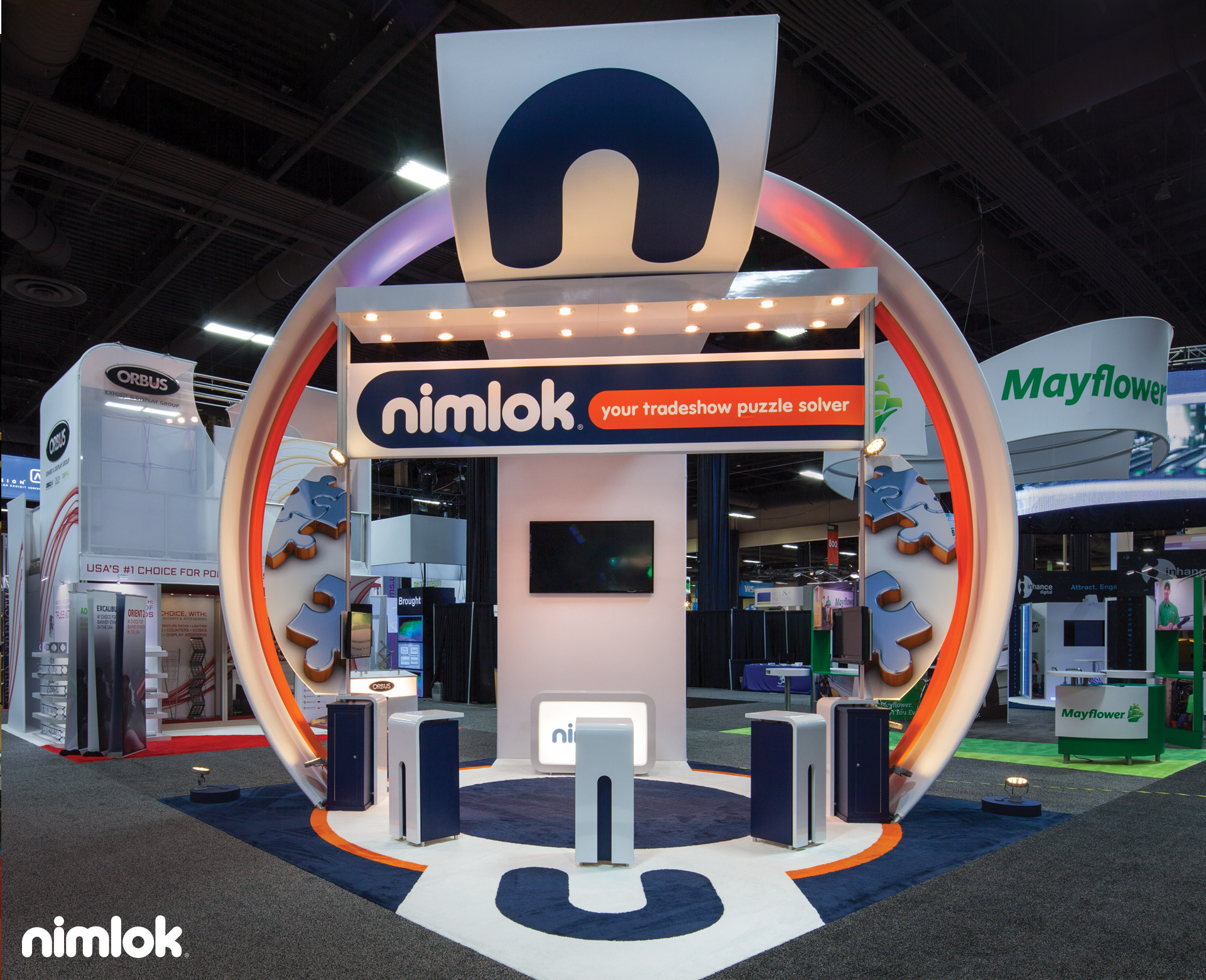 Nimlok 20x20 Custom Booth