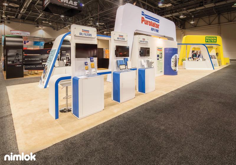 Purolator Exhibition Booth