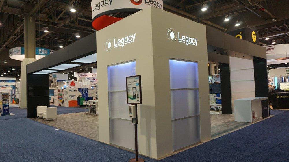 Legacy 30x40 Custom Trade Show Exhibit