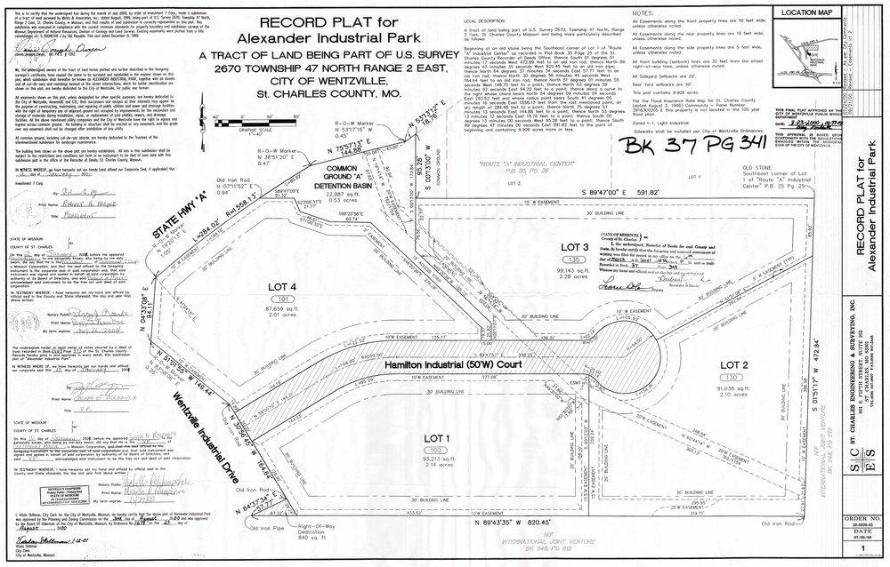 B) record plat for Alexander Idustrail Park.jpg