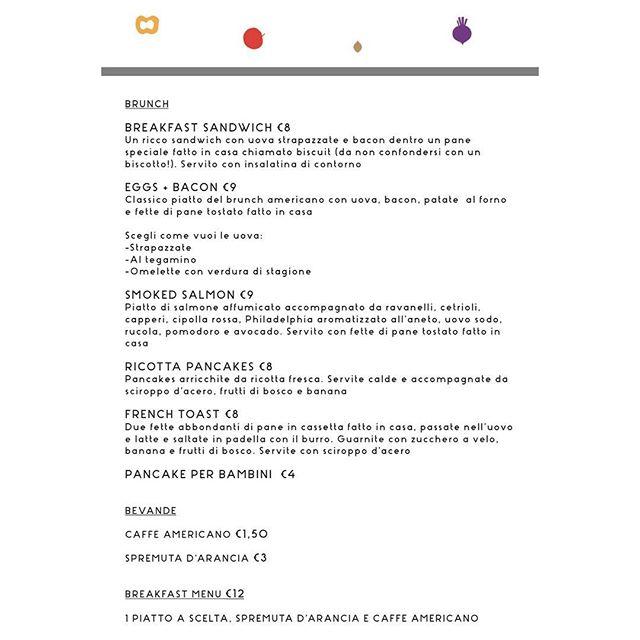 Dai un occhiata al nostro menù del brunch!