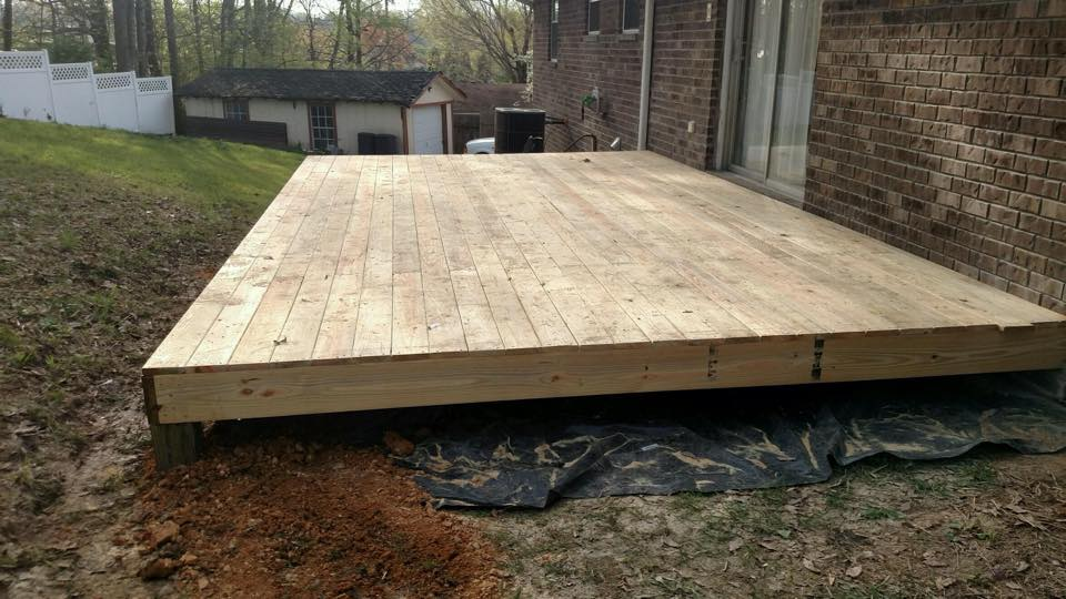deck without railing