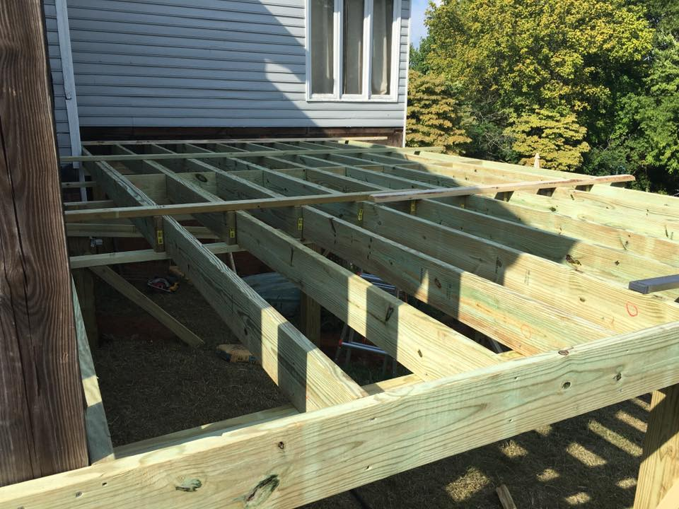 wood deck framing