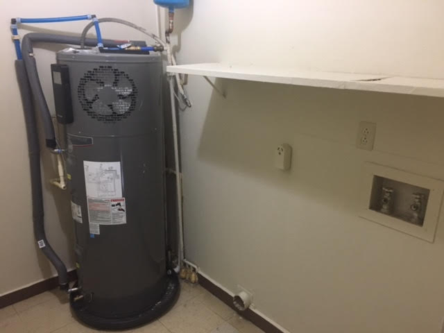 Heat pump water heater replacement HUD