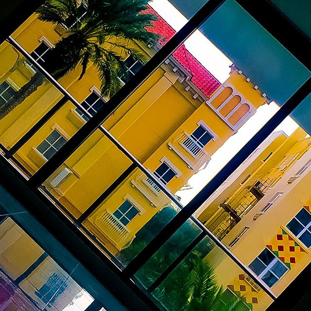 """"""" I'm so down for queso """" (↙️ tilt to enjoy)  5/365  #way2ill #iphoneography #yellow #queso #amarillo  #architecture #lines #spanishfood #spanisharchitecture #photography #love #beauty #art #fl #florida #downtown #stpetersburg"""