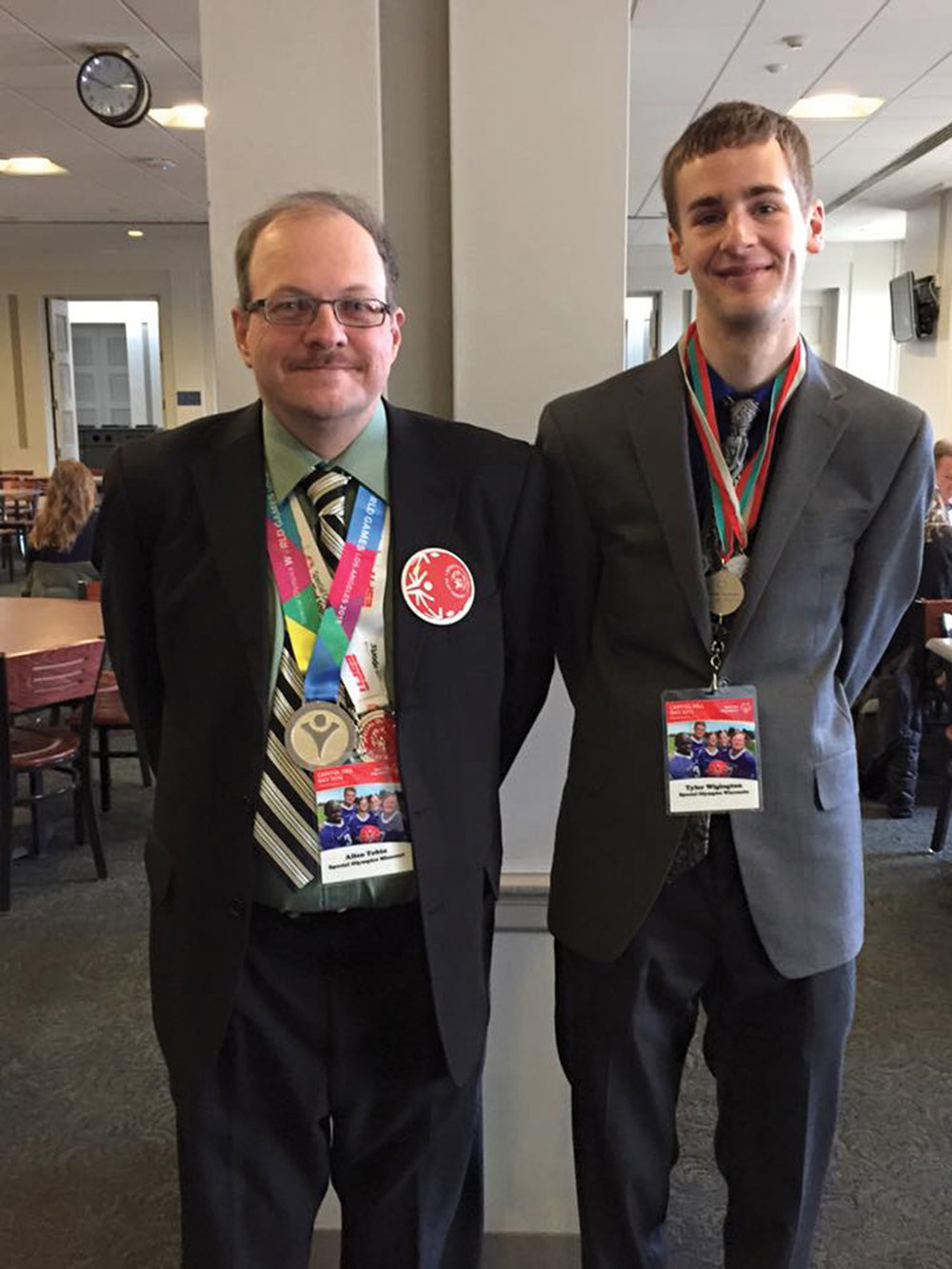 Allen Tobin, left, traveled to Washington, D.C. for Special Olympics Hill Day to lobby for more funding