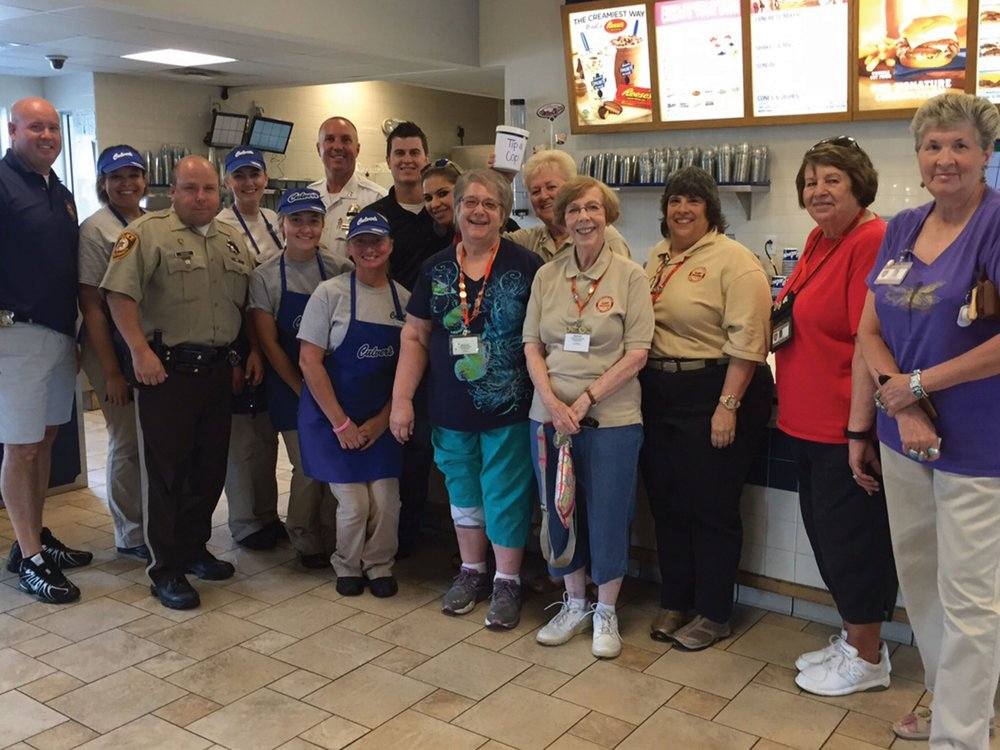 Law enforcement officers held more than 50 Tip-A-Cops throughout the state in 2016. This photo was taken at a Culver's in Affton.