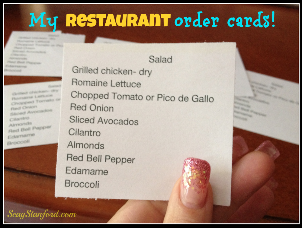 Dining out cards