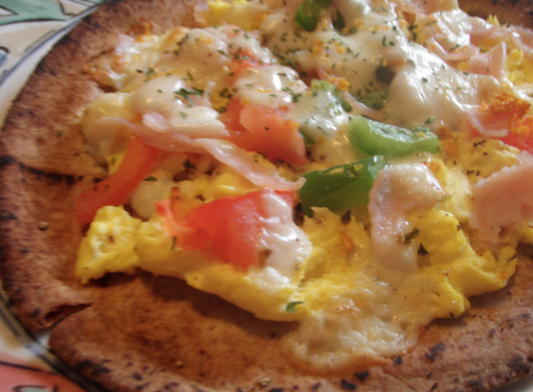 Pita Egg Pizza