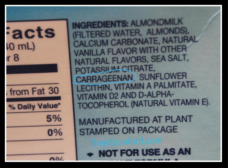 Blue Diamond Almond Milk Label