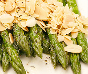 Roasted Aparagus with Slivered Almonds