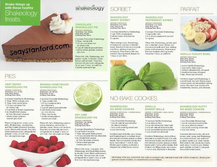 Shakeology Frozen Treats, Shakeology Pudding, Shakeology Bars