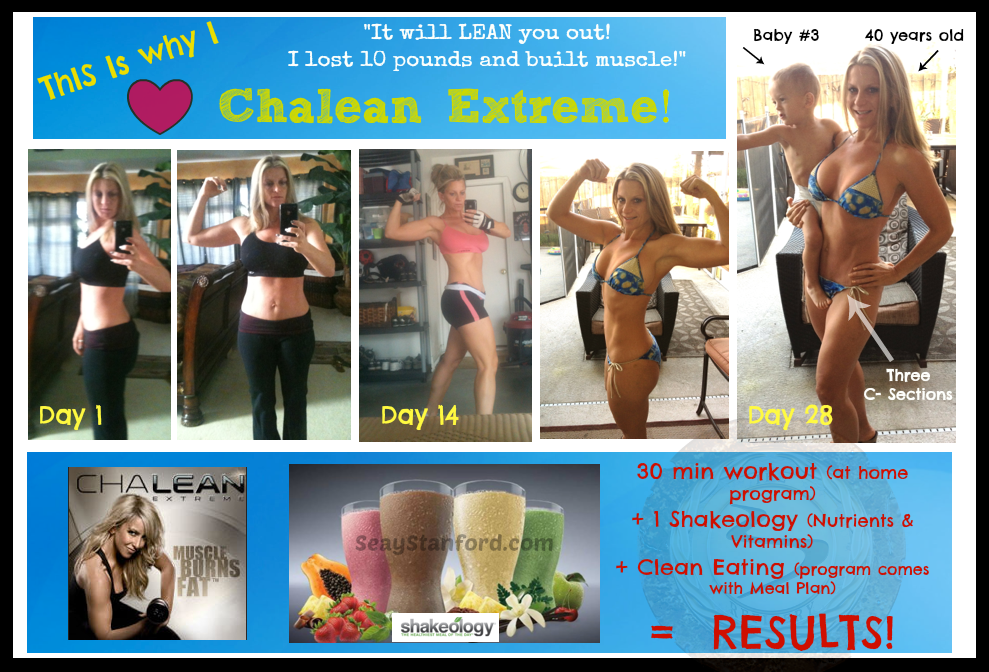 This is me after just three weeks of Chalean Extreme