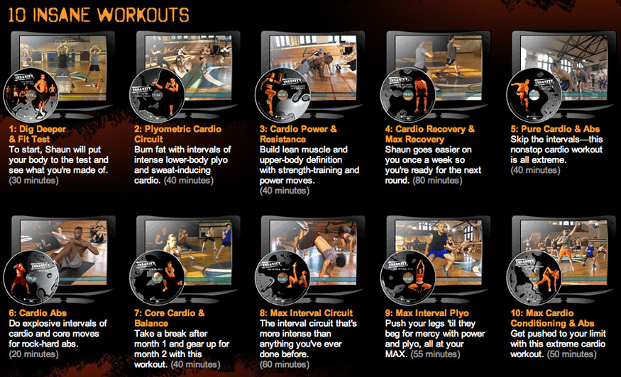 Beachbody Program Insanity Workouts by Shaun T