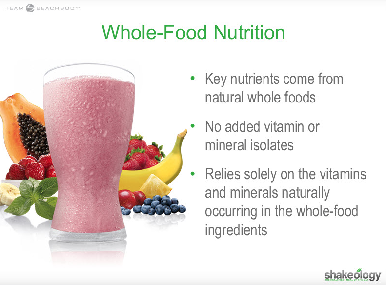 Is Shakeology a Whole Food?