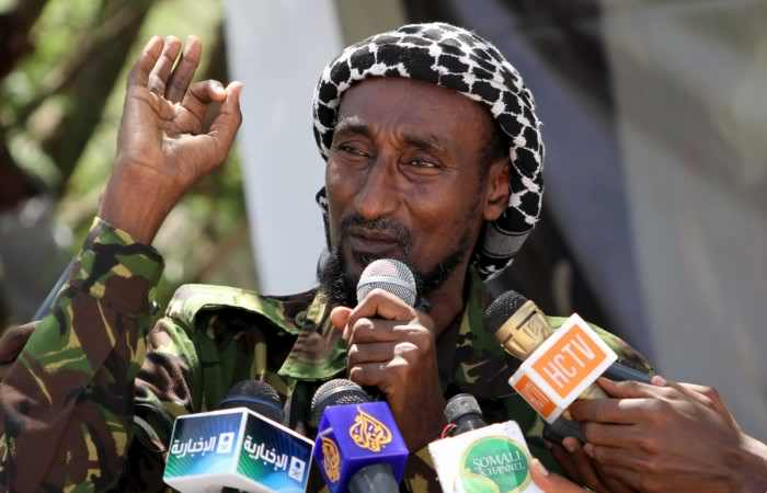 Former Garissa madrassa teacher turned Shabaab commander Mohamed Mohamud 'Gamadhere' in Mogadishu, 2011. Photo: Reuters