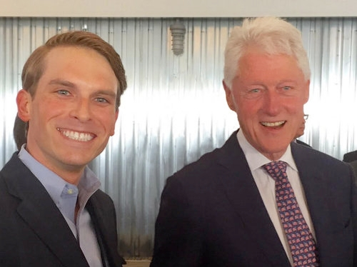 Bill Clinton SourceFunding.org (W. Michael Short Founder) FinTech NYC.jpg