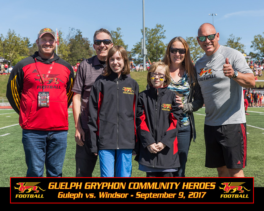 Scott McRoberts (UofG Athletic Director), Mr. Campolongo, Kara Campolongo, Angie Bates, Mrs. Bates, Doug Pflug