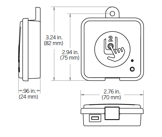 home transmitter dimensions