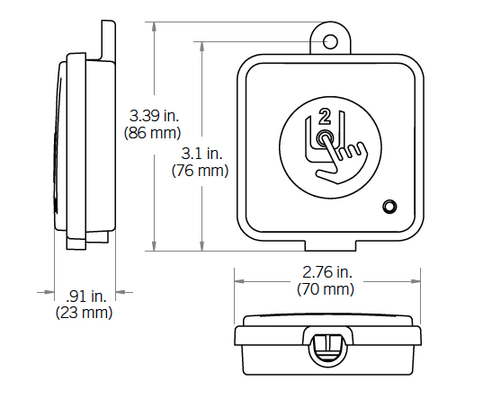 Spa transmitter dimensions
