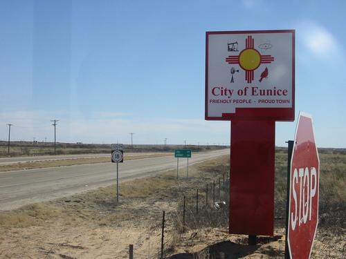 Eunice, NM in southeast New Mexico along the Texas border.