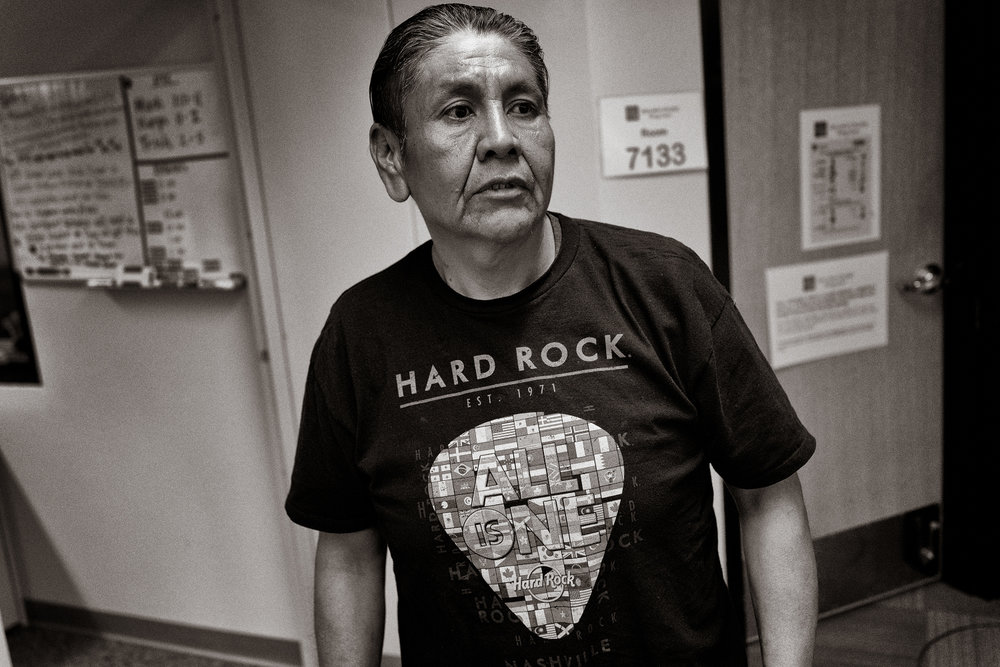"""Gerold Yazzie, a contractor, after taking his GED test in April: """"I need a diploma to move ahead in life,"""" he says.  Don Usner / Searchlight New Mexico."""
